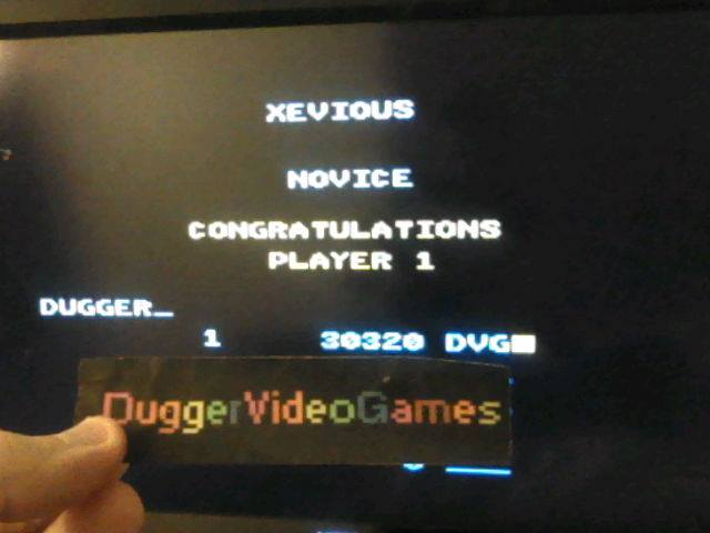 DuggerVideoGames: Xevious: Novice (Atari 7800 Emulated) 30,320 points on 2017-12-28 02:00:44