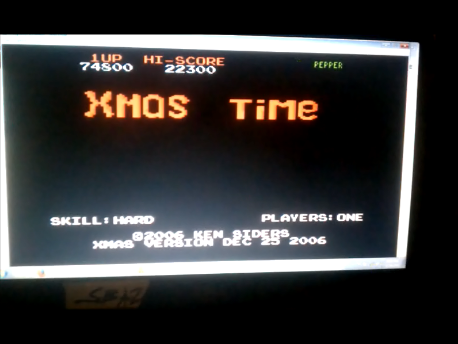 S.BAZ: Xmas Time: Hard (Atari 7800 Emulated) 22,300 points on 2016-09-22 15:47:36