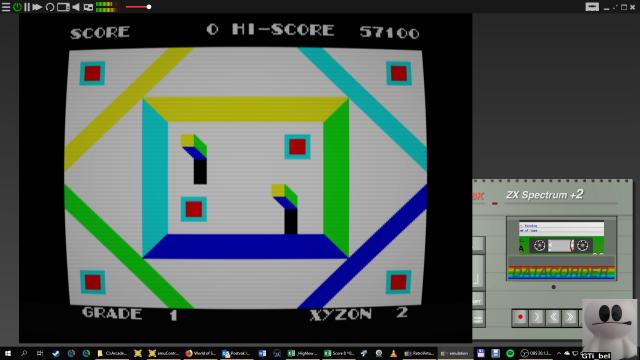 GTibel: Xyzolog (ZX Spectrum Emulated) 57,100 points on 2019-01-31 01:26:57