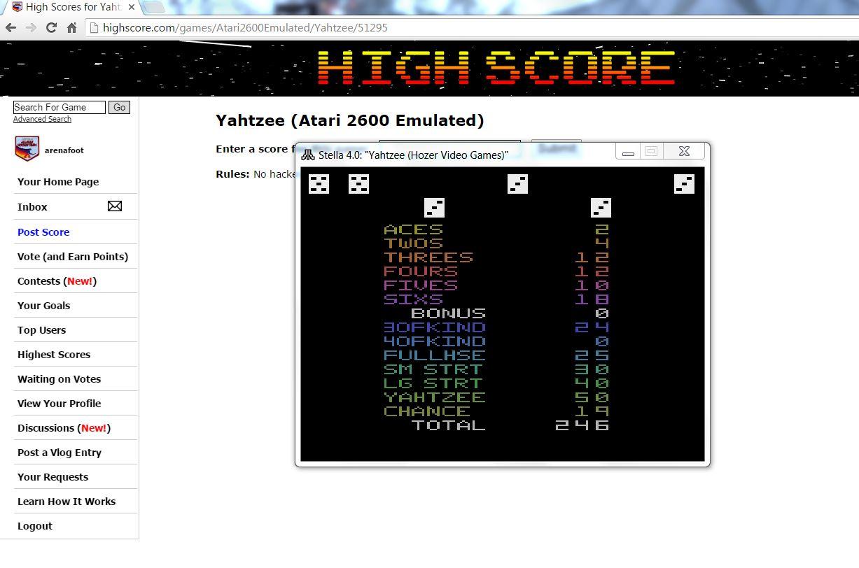 Yahtzee 246 points