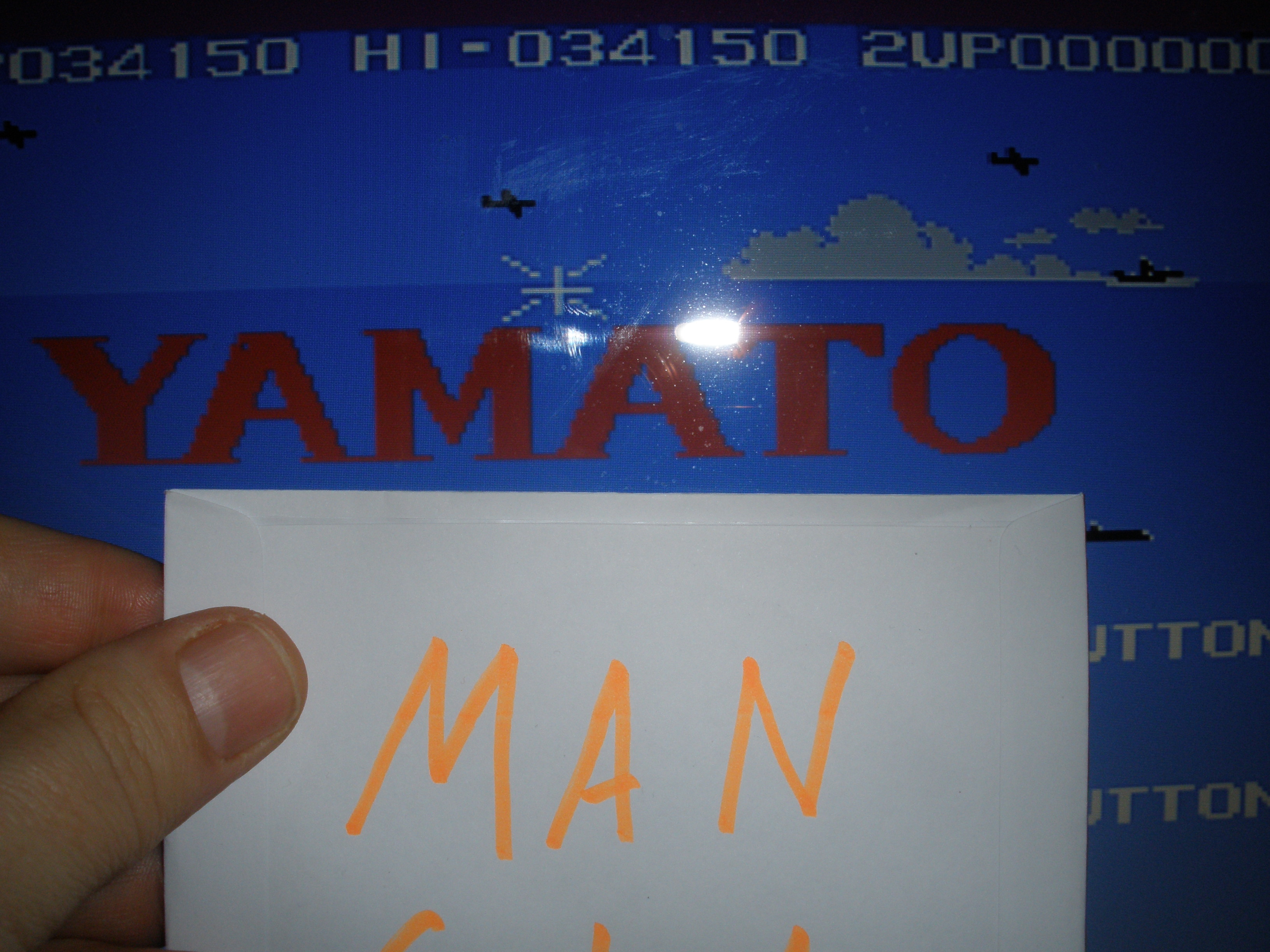 MangiaBoy: Yamato (Sega SG-1000 Emulated) 34,150 points on 2015-12-24 07:55:14