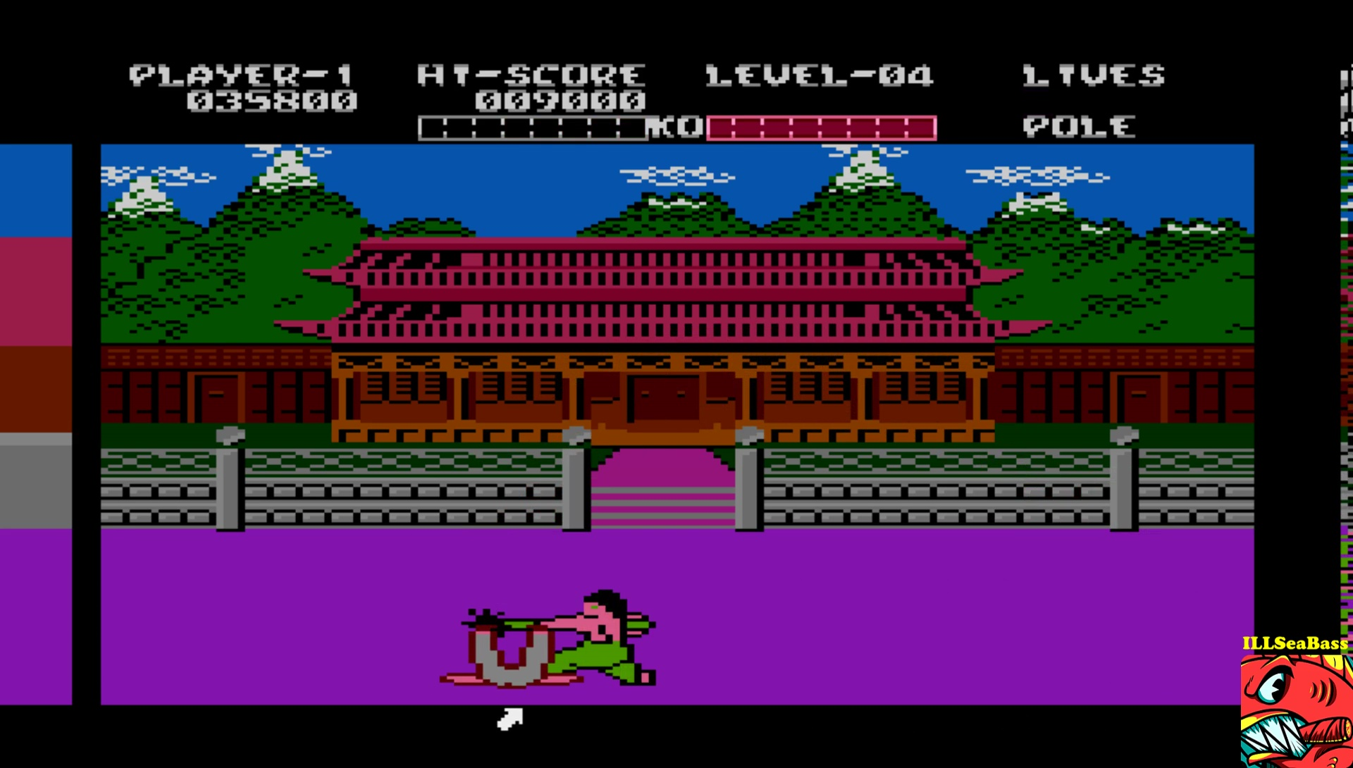 ILLSeaBass: Yie Ar Kung Fu (Atari 400/800/XL/XE Emulated) 35,800 points on 2017-05-30 22:28:52