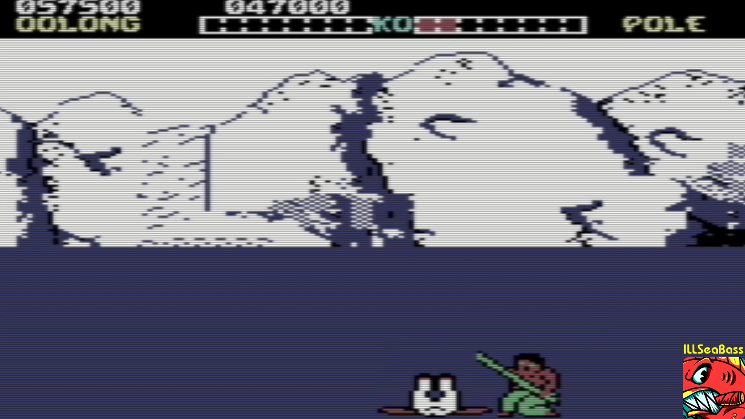 ILLSeaBass: Yie Ar Kung-Fu (Commodore 16/Plus4 Emulated) 57,500 points on 2018-02-05 19:24:17