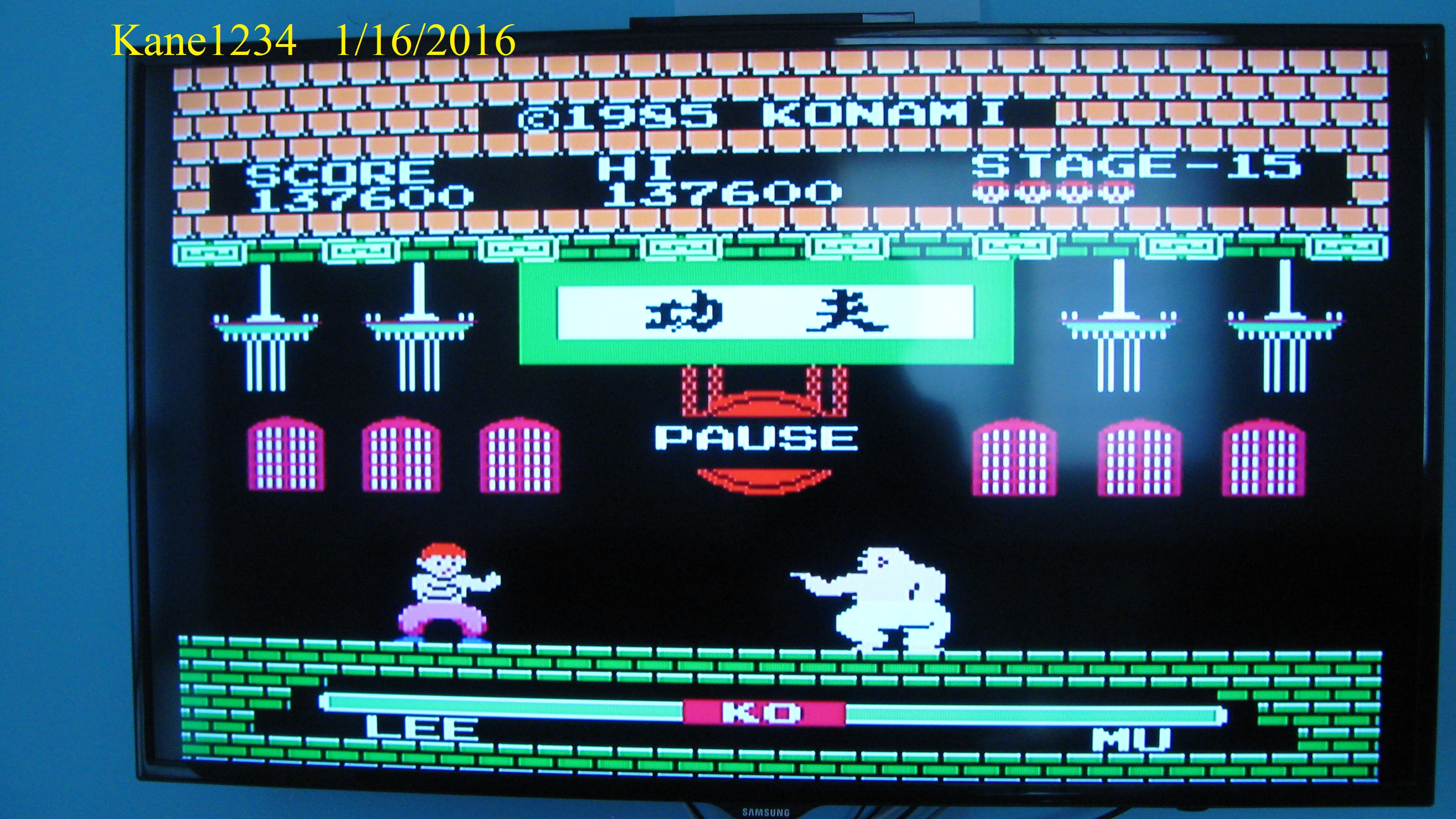 Yie Ar Kung Fu [Level 1] 137,600 points