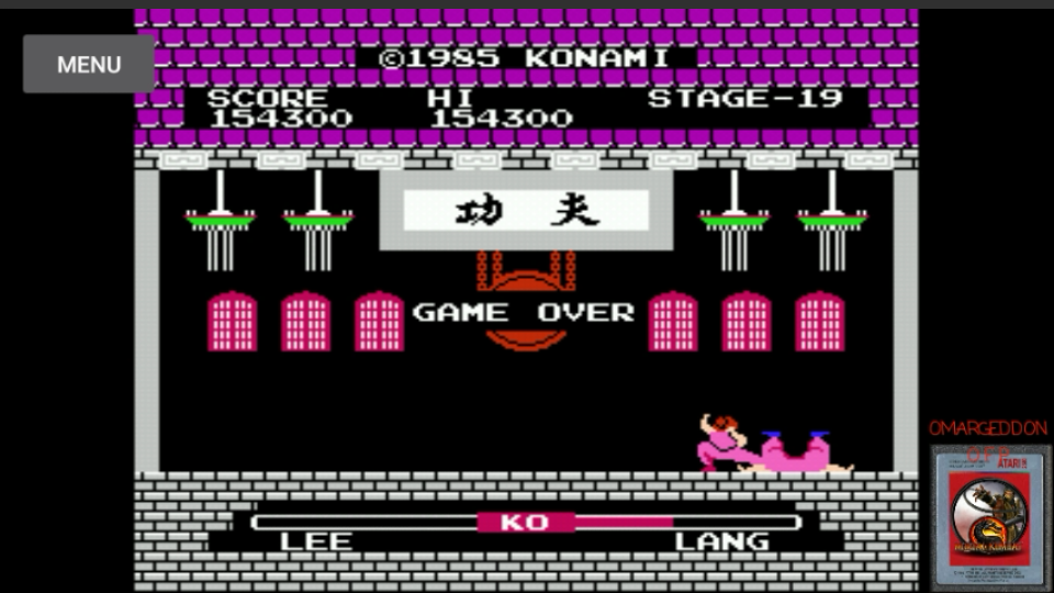 omargeddon: Yie Ar Kung Fu [Level 1] (NES/Famicom Emulated) 154,300 points on 2017-03-24 02:19:23