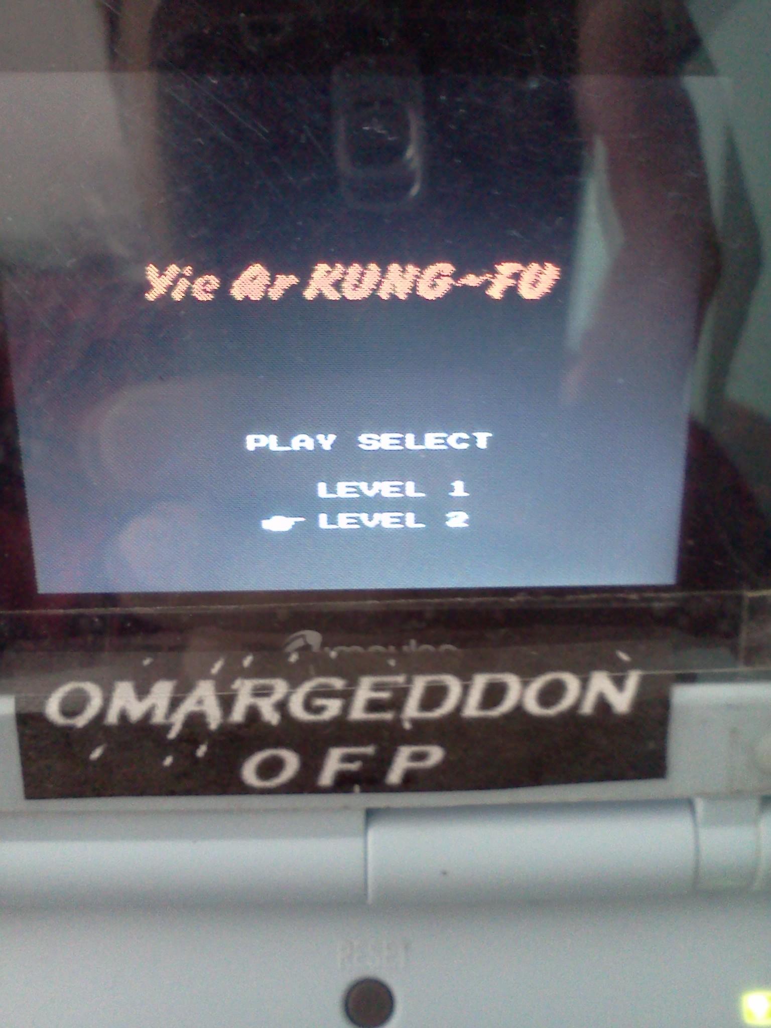 omargeddon: Yie Ar Kung Fu [Level 2] (NES/Famicom Emulated) 88,100 points on 2016-08-14 14:57:03
