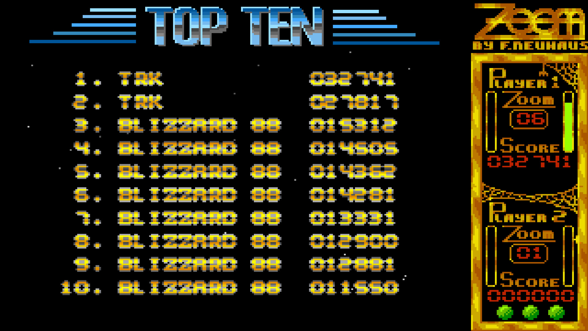 TheTrickster: ZOOM! (Amiga Emulated) 32,741 points on 2015-07-26 06:25:59