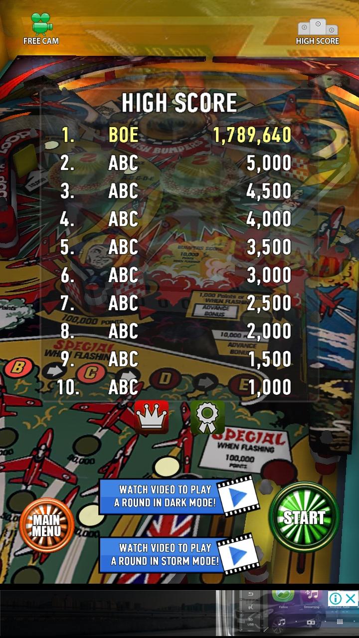 Zaccaria Pinball: Aerobatics 1,789,640 points