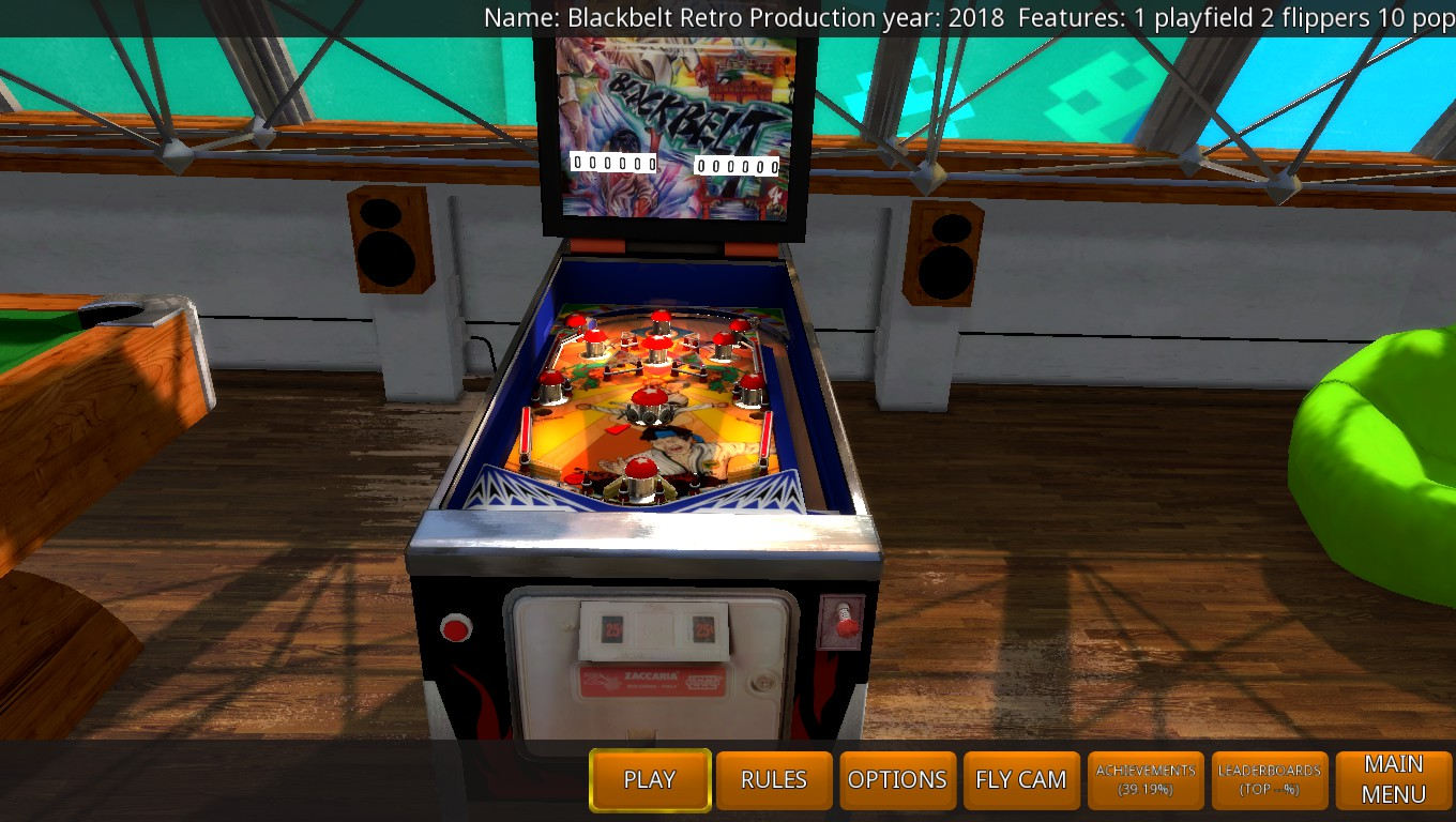 Mark: Zaccaria Pinball: Blackbelt 2018 Retro Table [3 Balls] (PC) 8,870 points on 2018-05-21 01:11:05