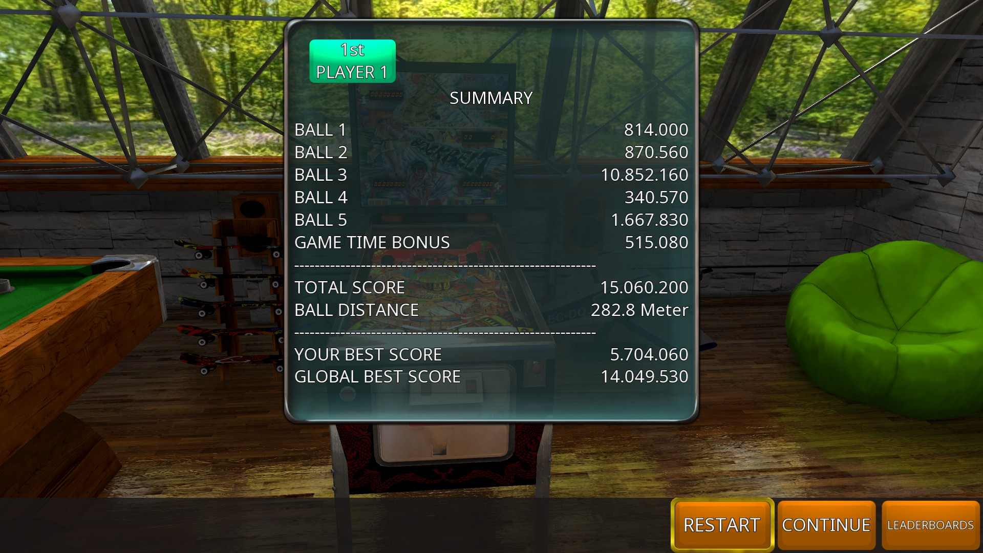 GTibel: Zaccaria Pinball: Blackbelt [5 balls] (PC) 15,060,200 points on 2018-08-20 04:04:17