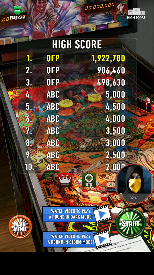 omargeddon: Zaccaria Pinball: Blackbelt (Android) 1,922,780 points on 2018-04-09 00:33:35
