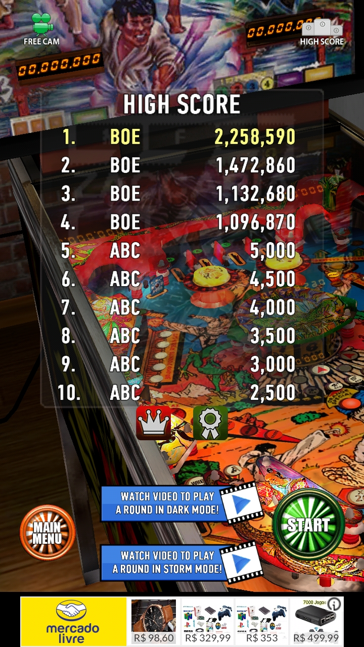 Zaccaria Pinball: Blackbelt 2,258,590 points