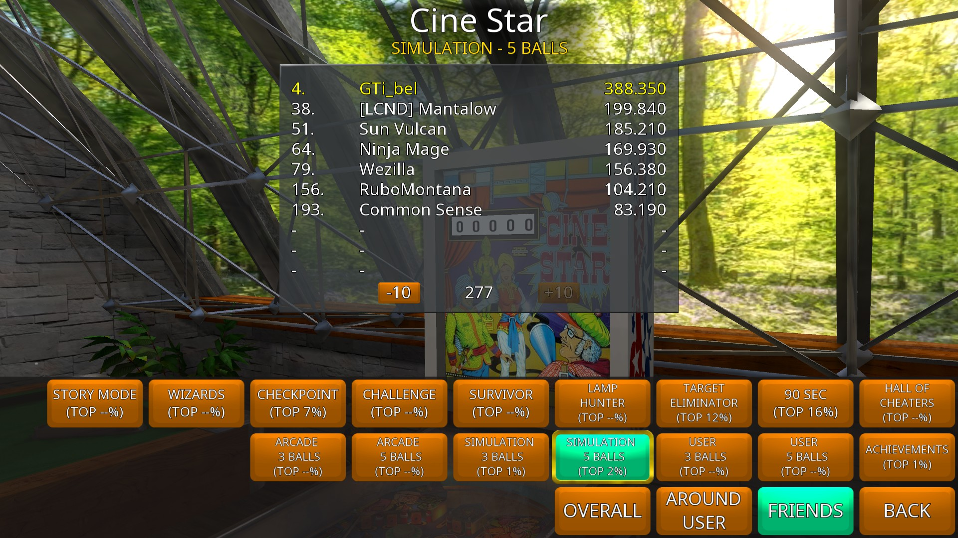 GTibel: Zaccaria Pinball: Cine Star [5 balls] (PC) 388,350 points on 2018-08-30 07:39:07