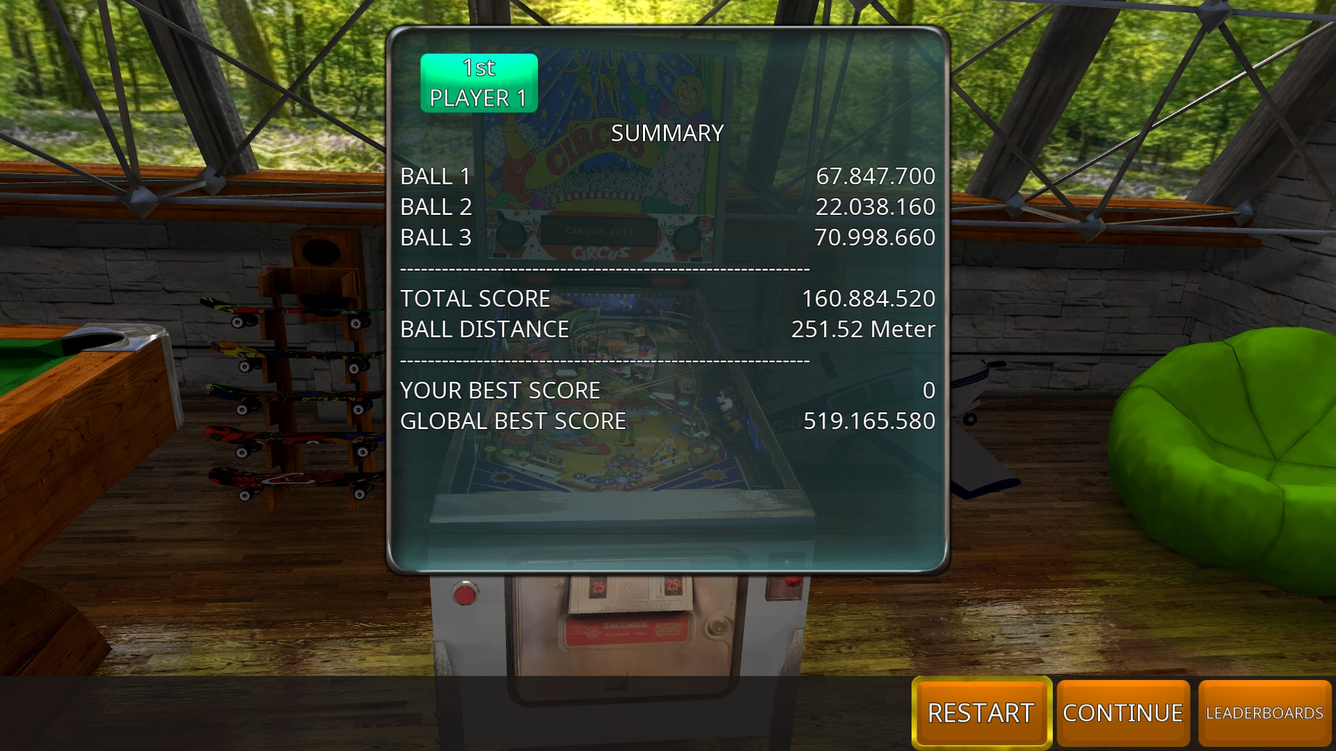 GTibel: Zaccaria Pinball: Circus 2017 [3 balls] (PC) 160,884,520 points on 2018-08-29 09:50:09