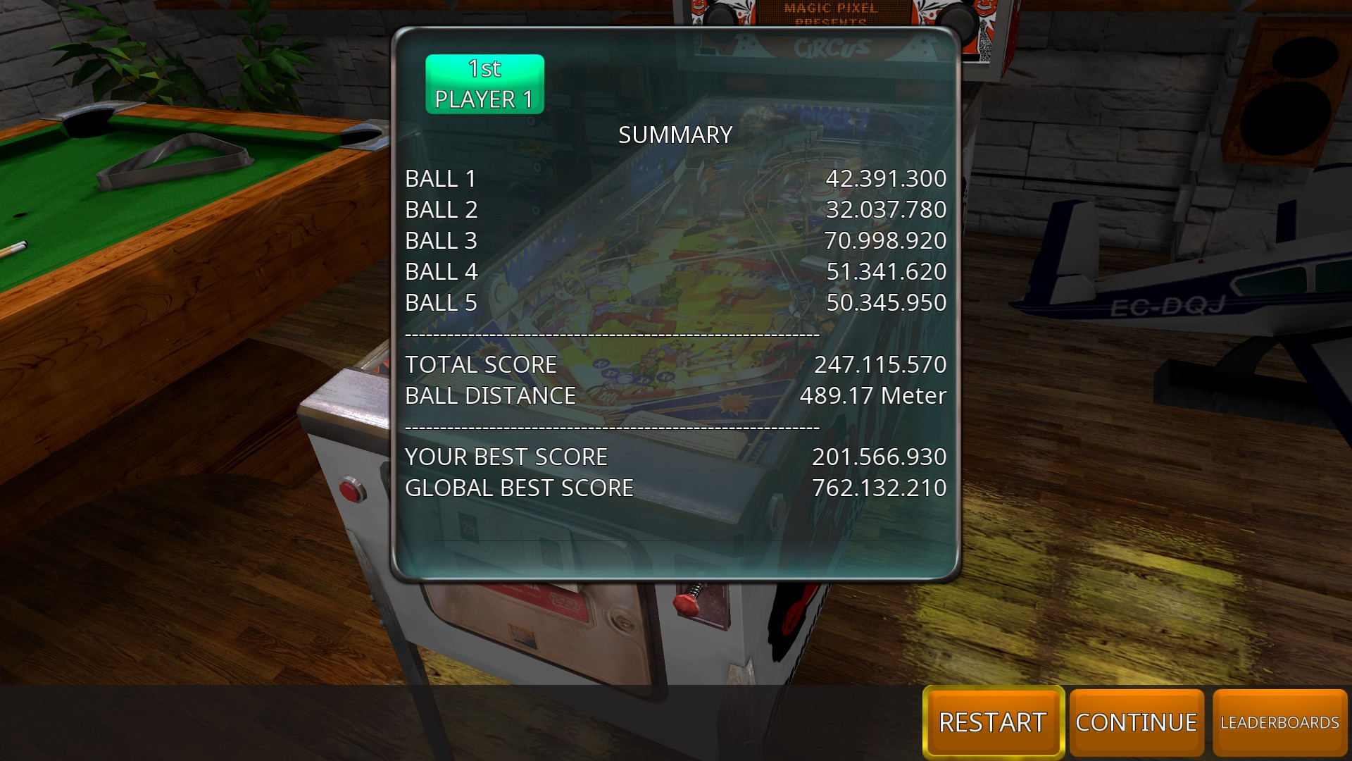 GTibel: Zaccaria Pinball: Circus 2017 [5 balls] (PC) 247,115,570 points on 2018-08-30 05:57:57