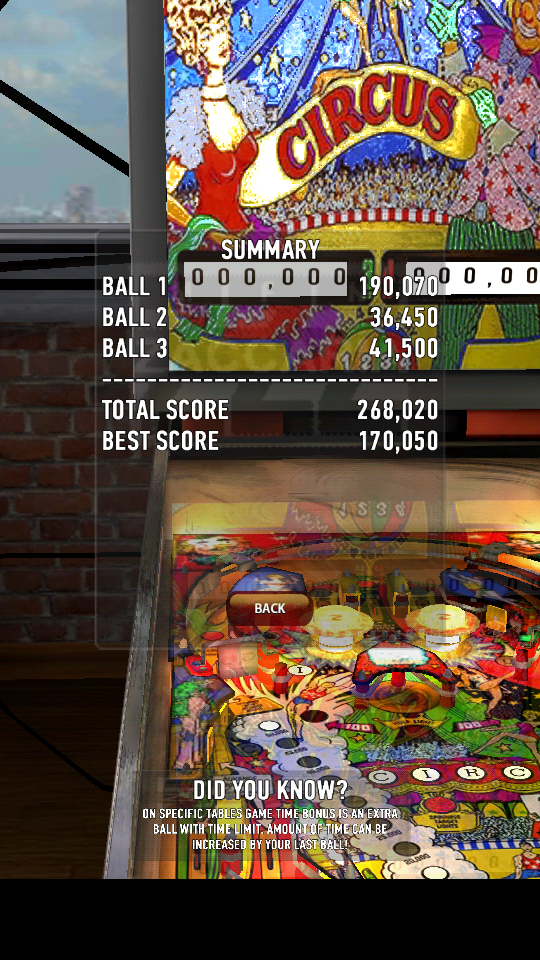 omargeddon: Zaccaria Pinball: Circus (Android) 268,020 points on 2018-06-03 01:08:57