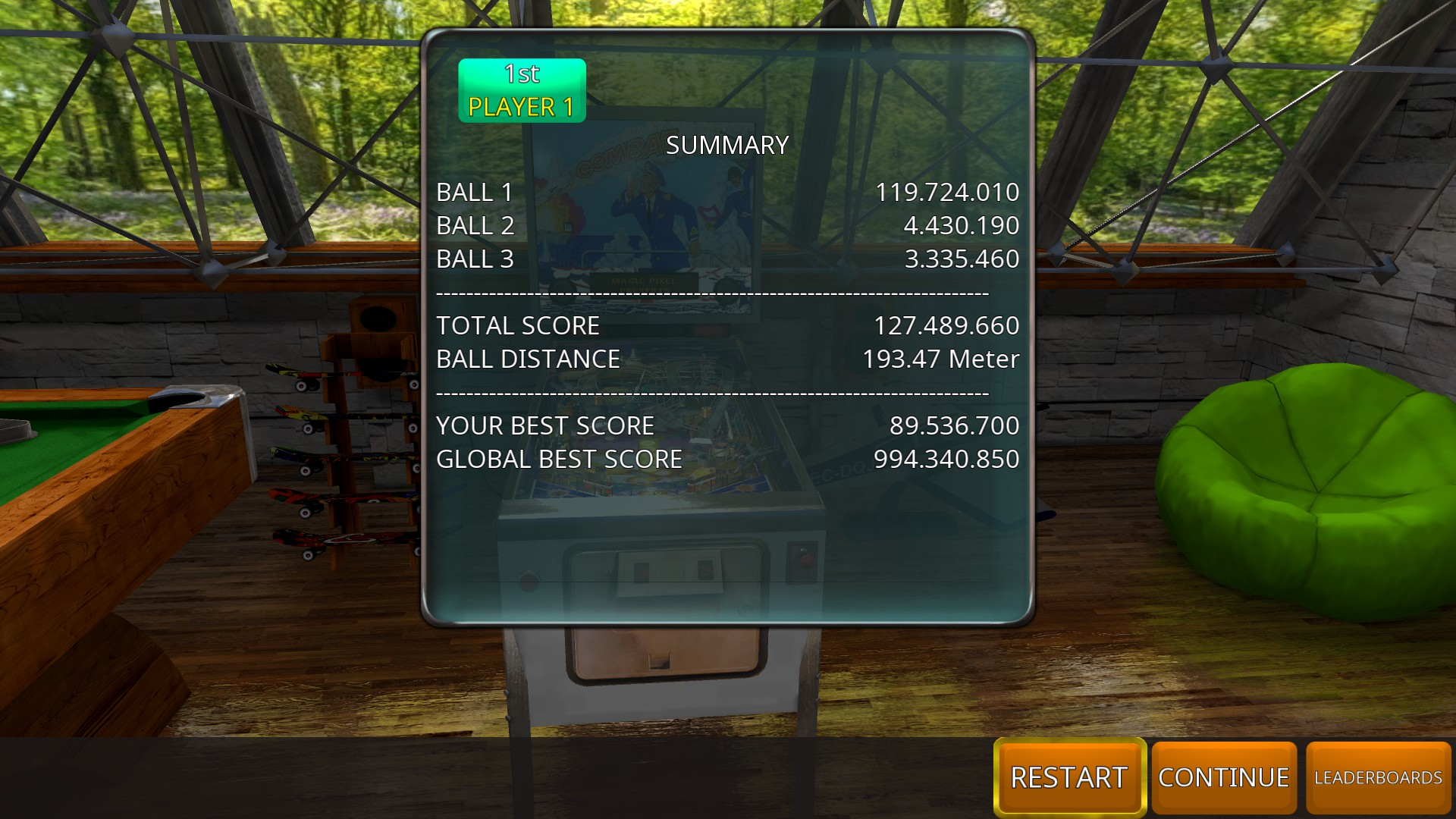 GTibel: Zaccaria Pinball: Combat 2017 [3 balls] (PC) 127,489,660 points on 2018-09-20 07:36:47