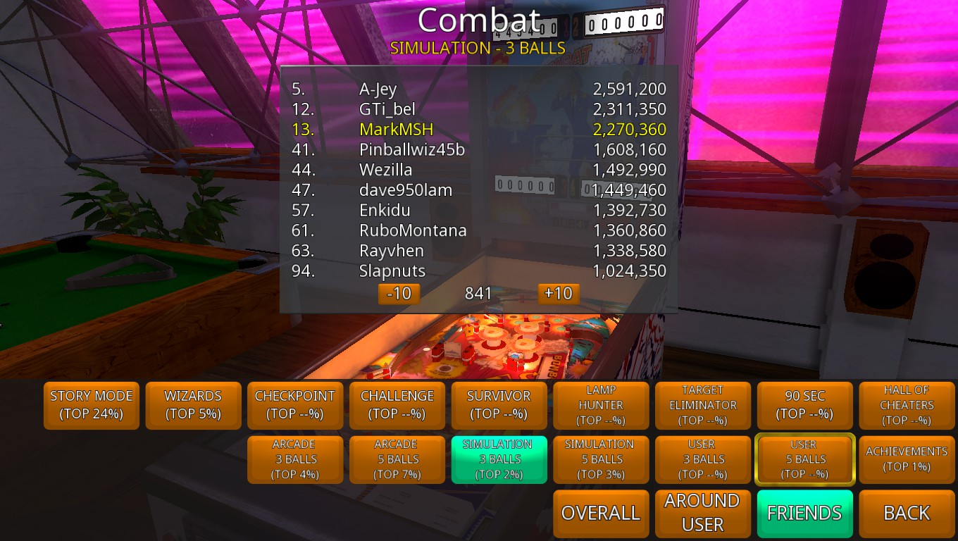 Mark: Zaccaria Pinball: Combat [3 balls] (PC) 2,270,360 points on 2018-08-14 02:35:21