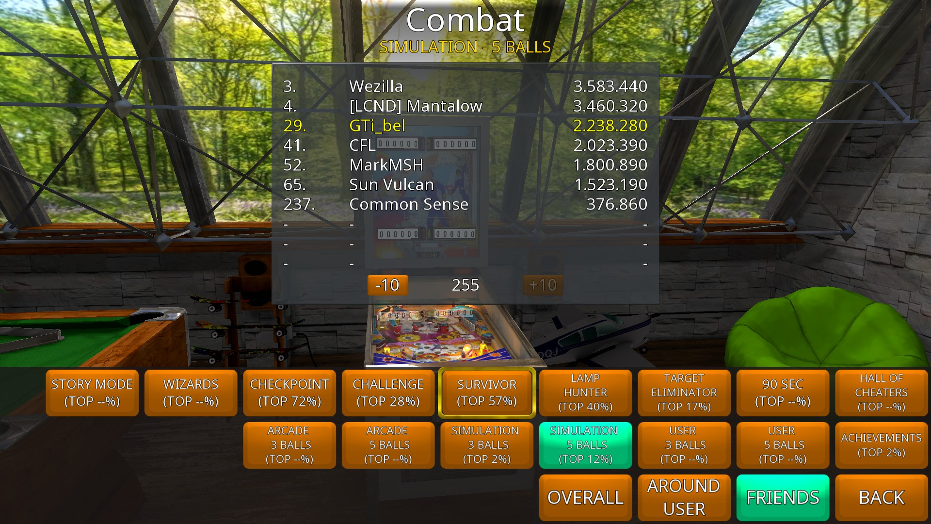 GTibel: Zaccaria Pinball: Combat [5 balls] (PC) 2,238,280 points on 2018-08-13 07:32:23