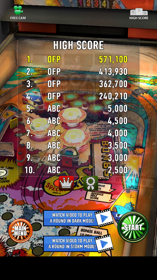 omargeddon: Zaccaria Pinball: Combat (Android) 571,100 points on 2018-06-07 21:08:23