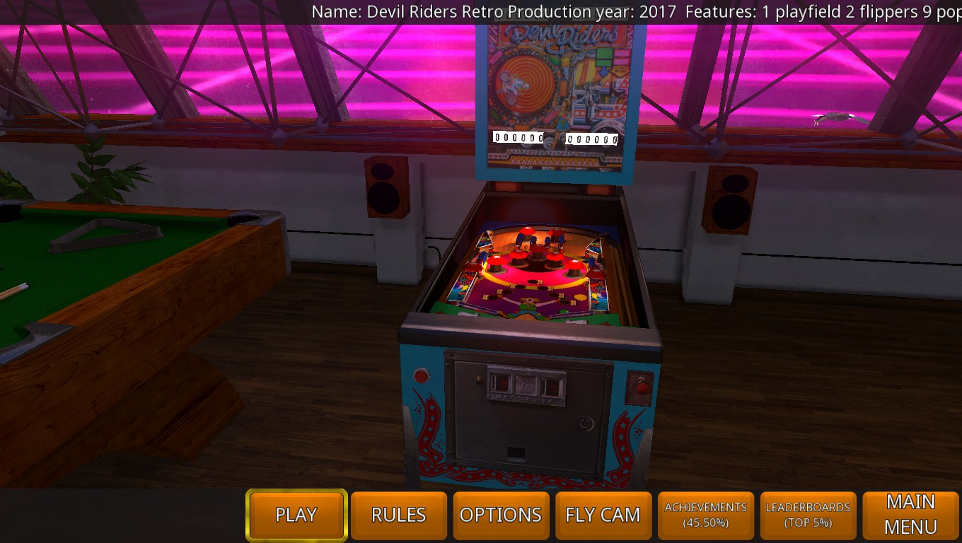 Mark: Zaccaria Pinball: Devil Riders 2017 Retro Table [5 Balls] (PC) 12,150 points on 2018-08-09 00:46:54