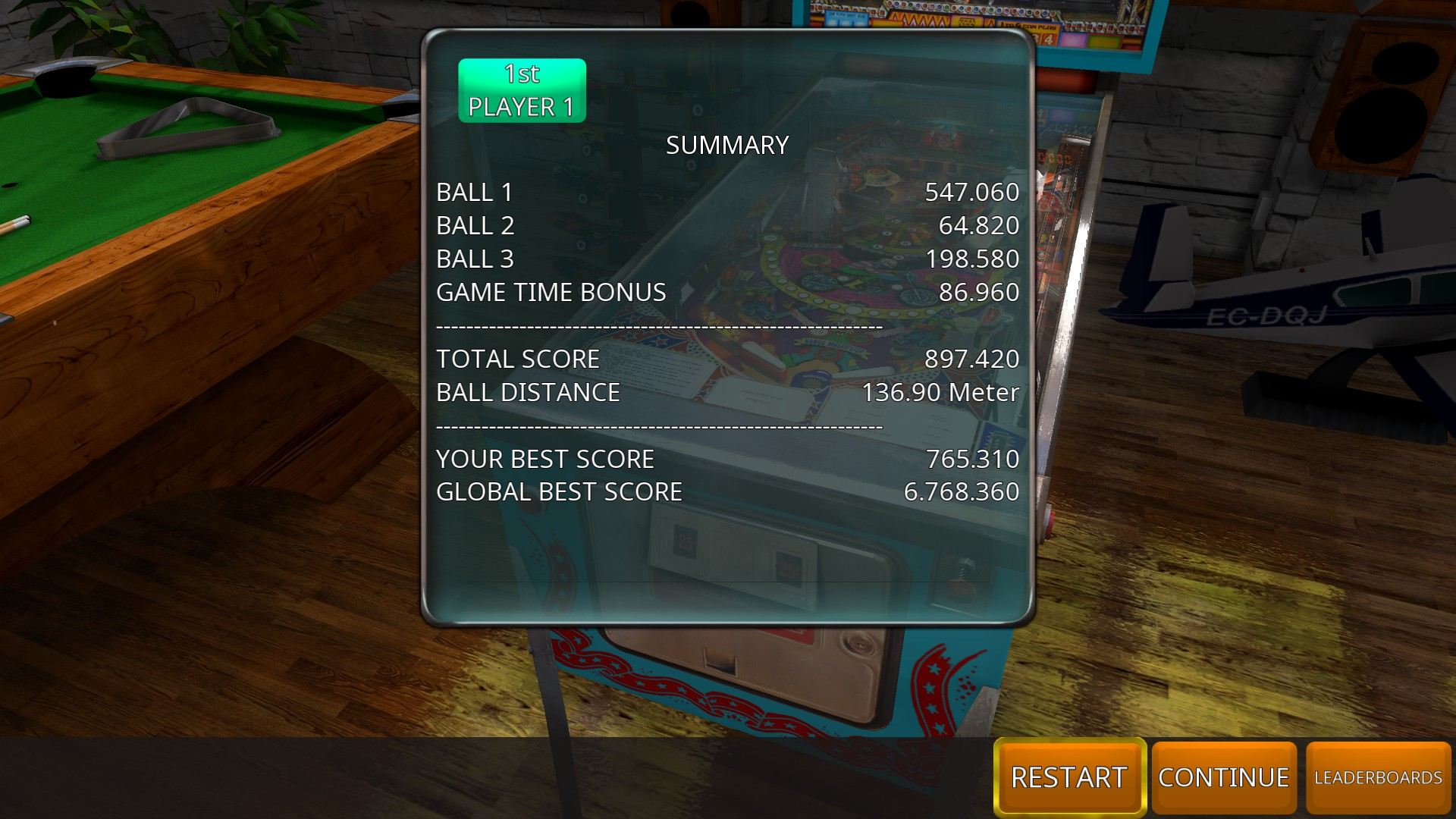 Zaccaria Pinball: Devil Riders [3 balls] 897,420 points