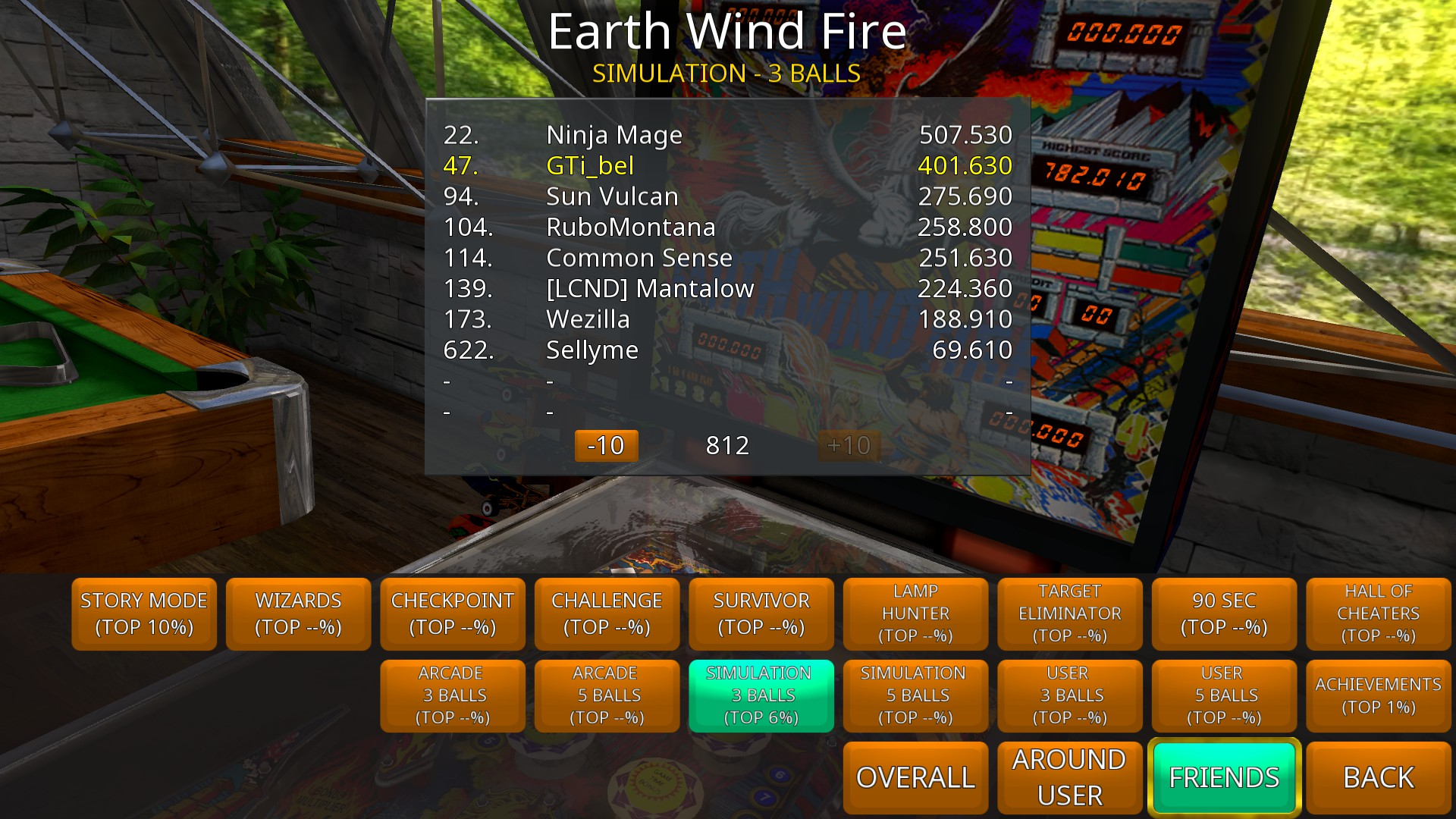 GTibel: Zaccaria Pinball: Earth Wind Fire [3 balls] (PC) 401,630 points on 2018-09-26 09:18:37
