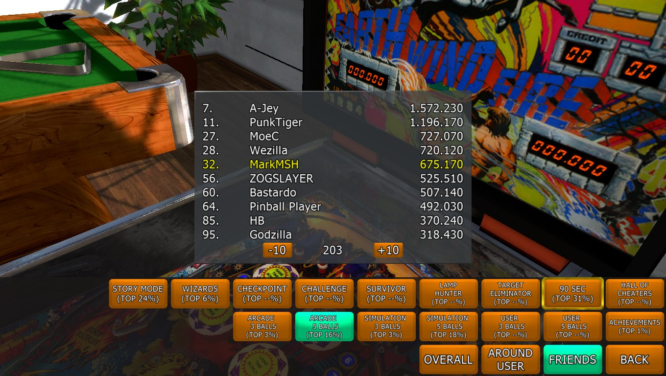 Mark: Zaccaria Pinball: Earth Wind Fire [5 balls] (PC) 675,170 points on 2018-04-16 02:58:34