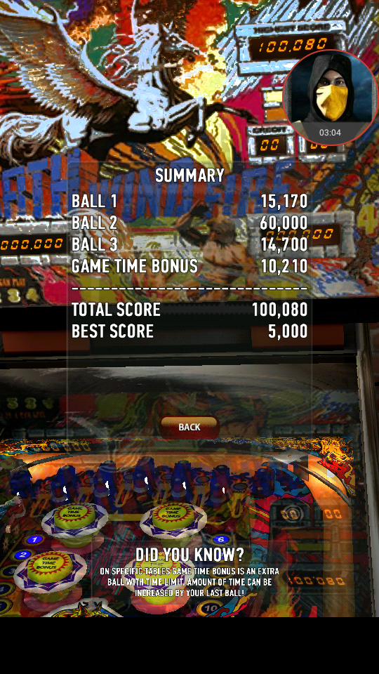 omargeddon: Zaccaria Pinball: Earth Wind Fire (Android) 100,080 points on 2018-04-02 11:40:29