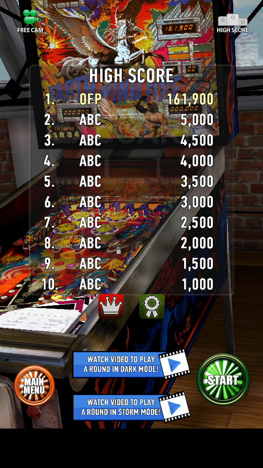 omargeddon: Zaccaria Pinball: Earth Wind Fire (Android) 161,900 points on 2018-06-10 21:26:15