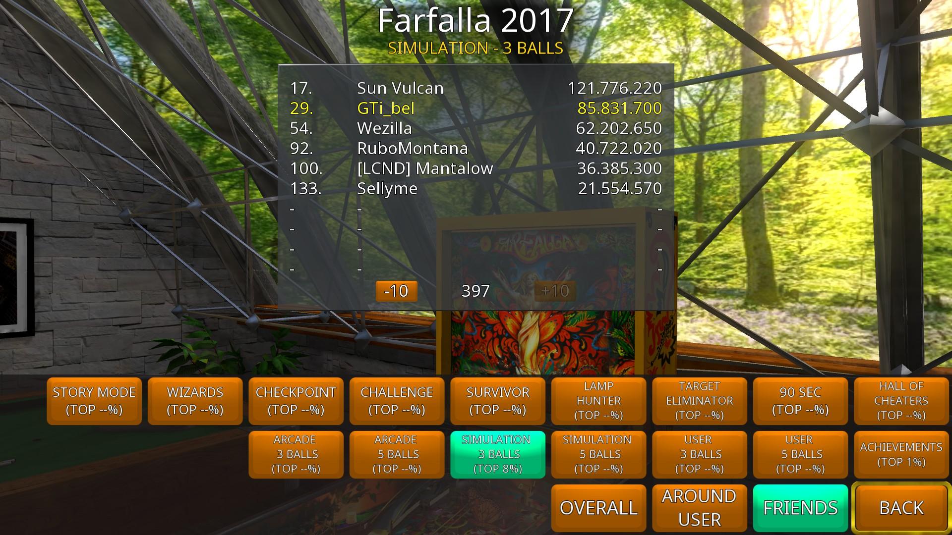GTibel: Zaccaria Pinball: Farfalla 2017 Table [3 balls] (PC) 85,831,700 points on 2018-08-27 07:42:48