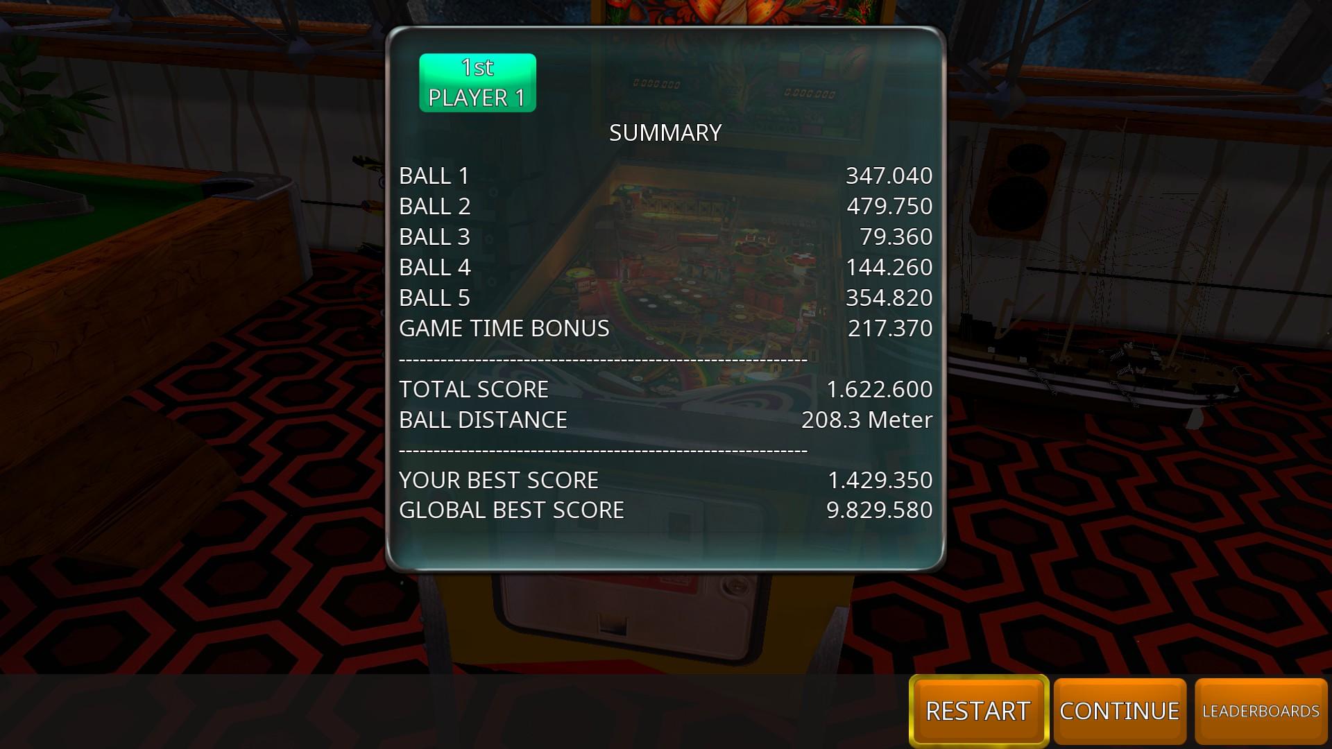 Zaccaria Pinball: Farfalla [5 balls] 1,622,600 points