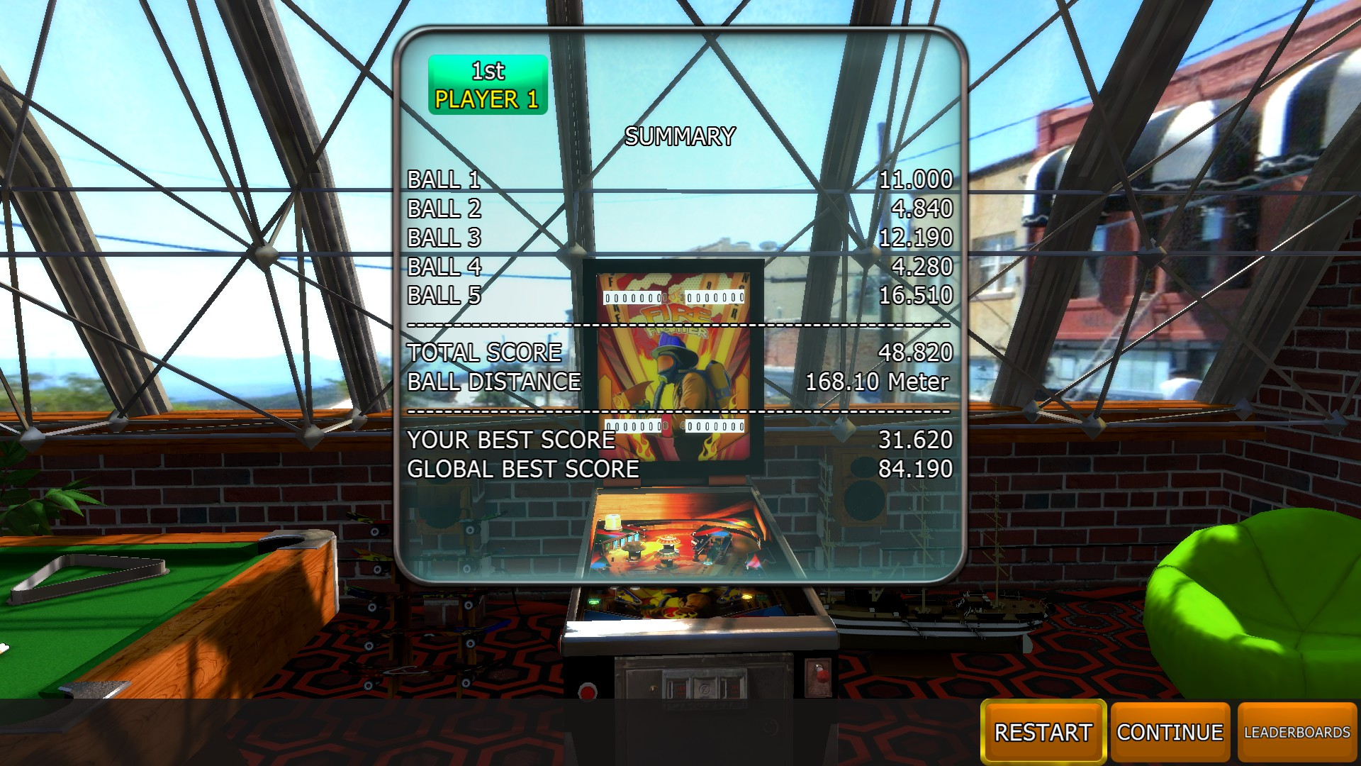 Mantalow: Zaccaria Pinball: Fire Fighter [5 balls] (PC) 48,820 points on 2018-05-15 04:18:23