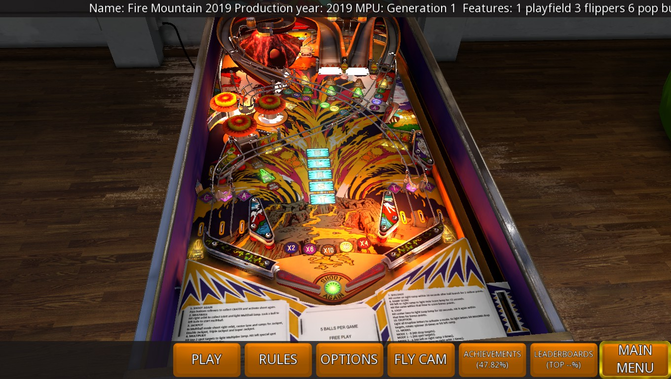 Mark: Zaccaria Pinball: Fire Mountain 2019 [3 Balls] (PC) 68,822,820 points on 2019-05-04 01:40:50