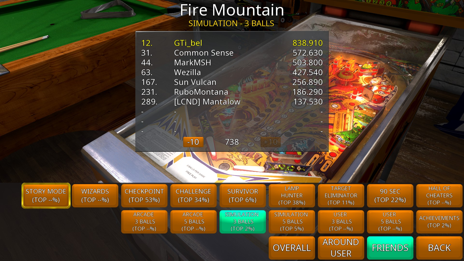 Zaccaria Pinball: Fire Mountain [3 balls] 838,910 points
