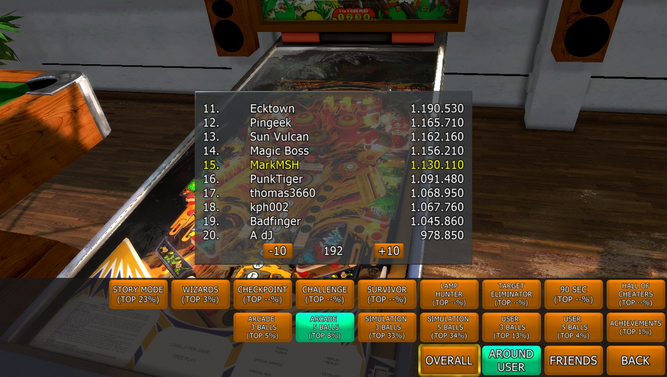 Mark: Zaccaria Pinball: Fire Mountain [5 balls] (PC) 1,130,110 points on 2018-04-18 01:56:24