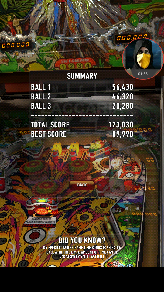 omargeddon: Zaccaria Pinball: Fire Mountain (Android) 123,030 points on 2018-04-02 11:30:28