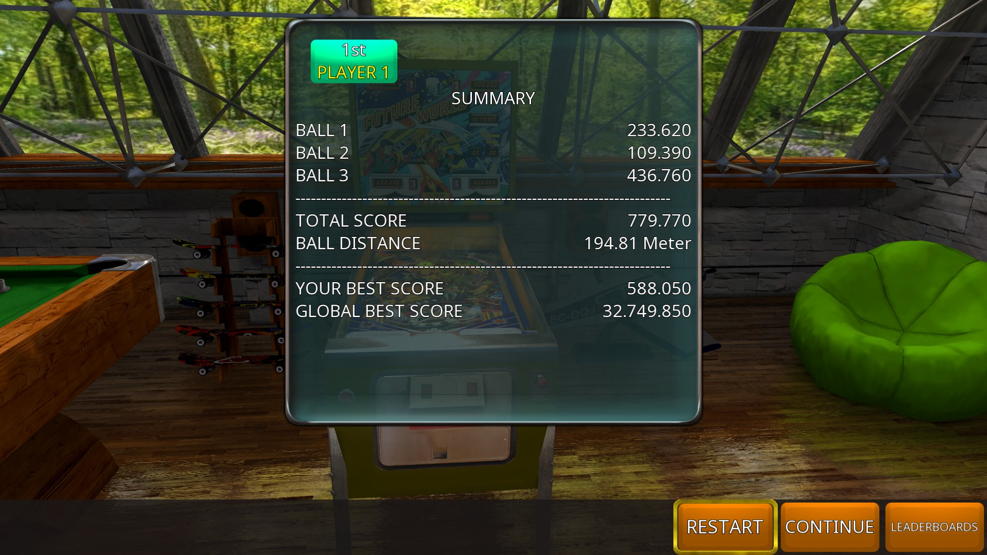 GTibel: Zaccaria Pinball: Future World [3 balls] (PC) 779,770 points on 2018-11-04 09:34:10
