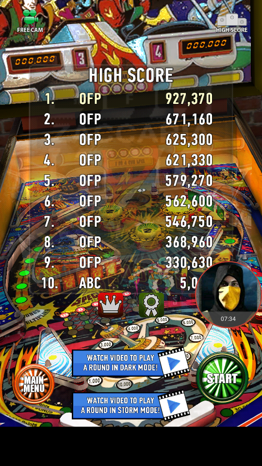 omargeddon: Zaccaria Pinball: Future World (Android) 927,370 points on 2018-04-05 23:37:01