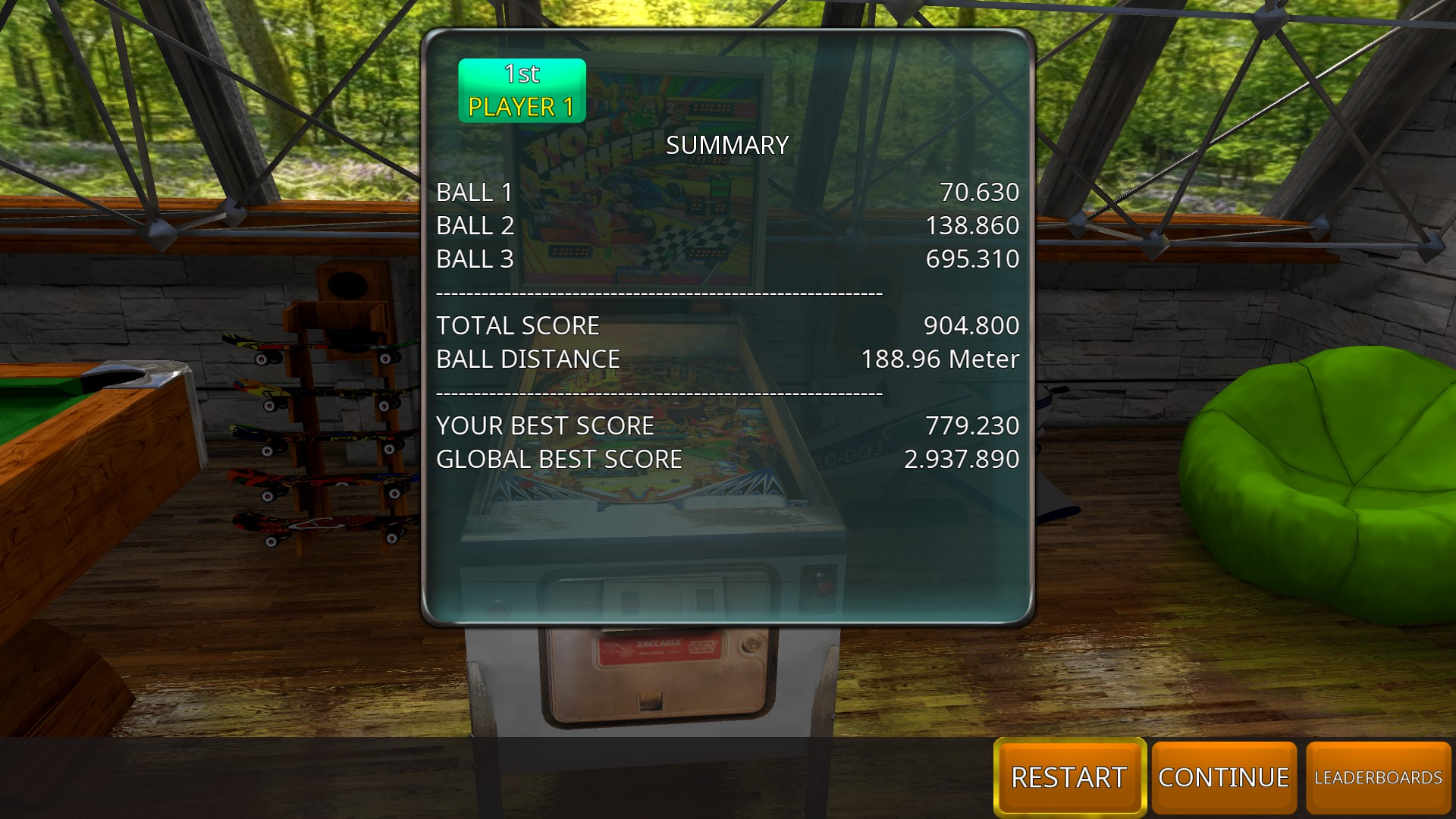 GTibel: Zaccaria Pinball: Hot Wheels [3 balls] (PC) 904,800 points on 2018-08-13 13:42:48