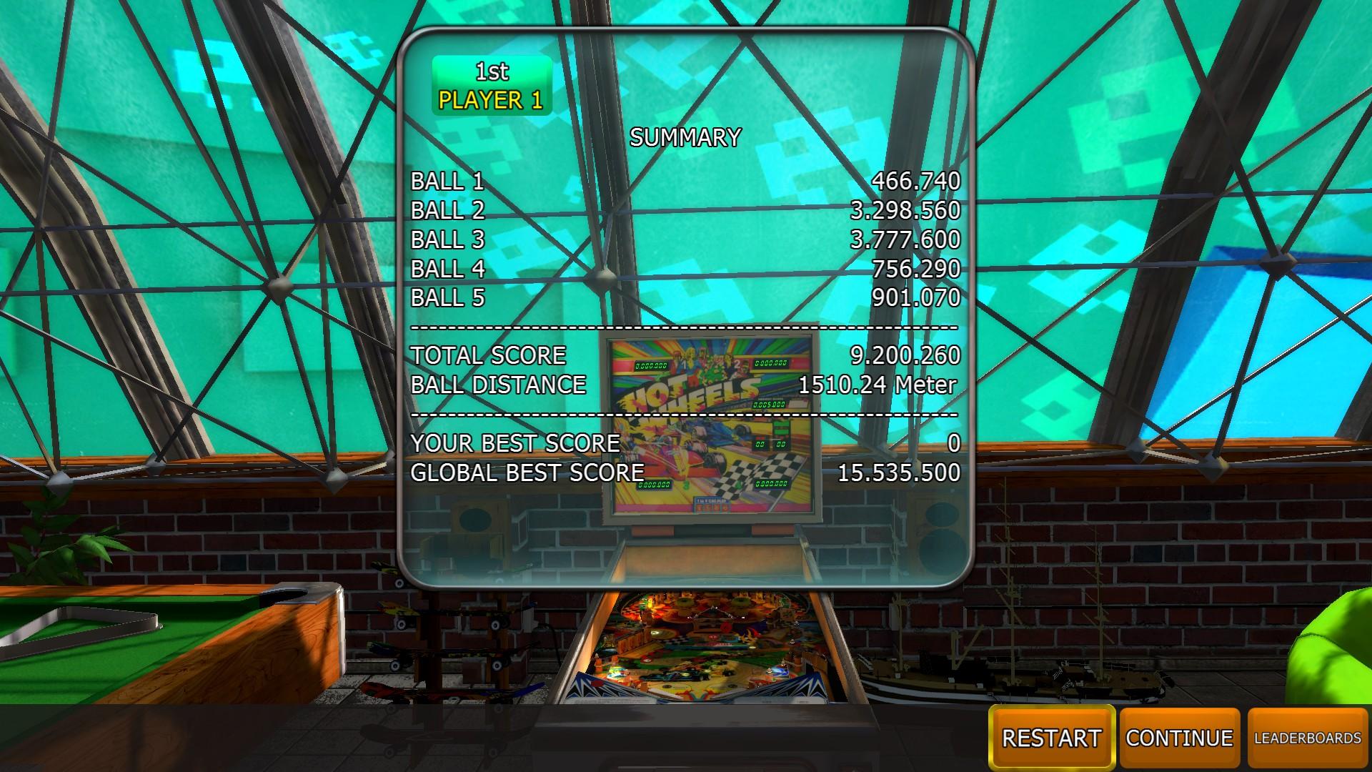 Zaccaria Pinball: Hot Wheels [5 balls] 9,200,260 points