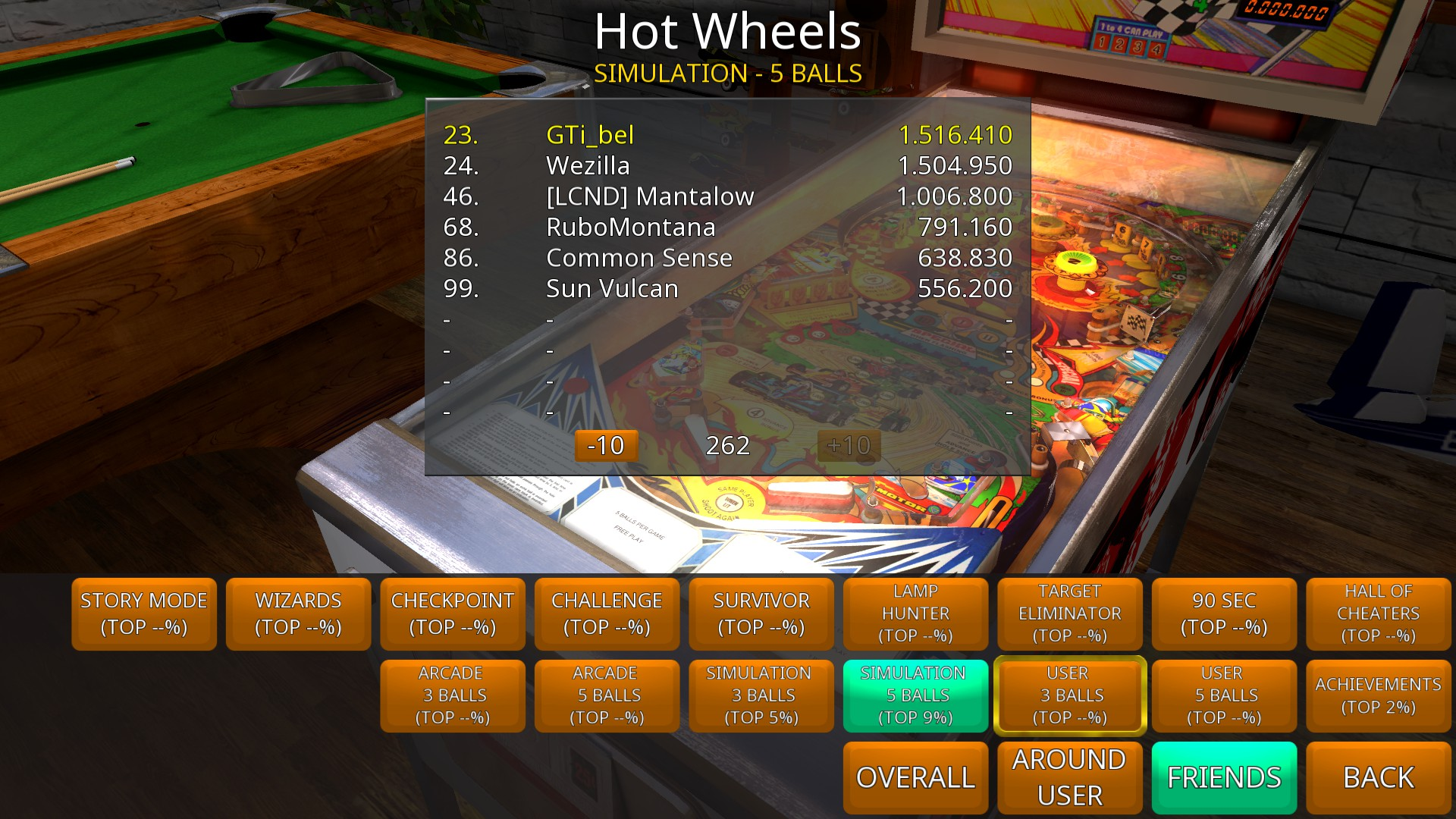 GTibel: Zaccaria Pinball: Hot Wheels [5 balls] (PC) 1,516,410 points on 2018-08-16 03:39:07