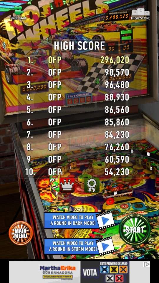 omargeddon: Zaccaria Pinball: Hot Wheels (Android) 296,020 points on 2018-06-18 13:13:42