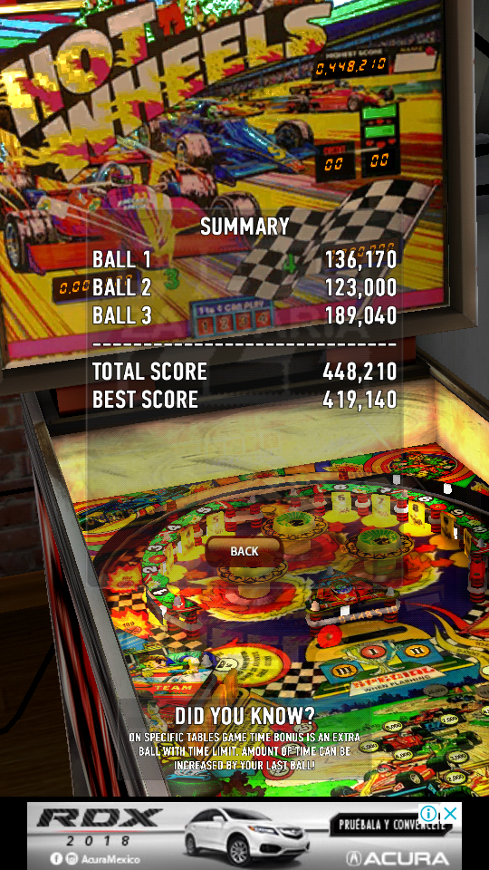 omargeddon: Zaccaria Pinball: Hot Wheels (Android) 448,210 points on 2018-07-07 10:53:52