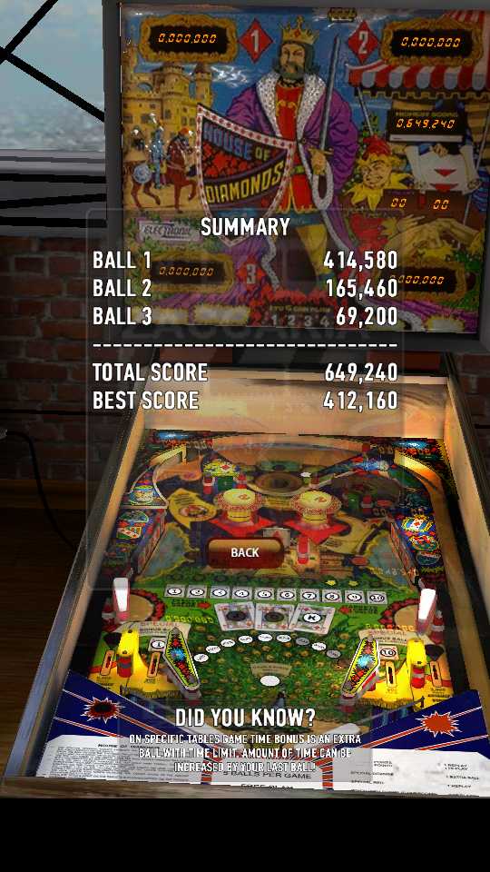 omargeddon: Zaccaria Pinball: House Of Diamonds (Android) 649,240 points on 2018-06-02 21:42:08