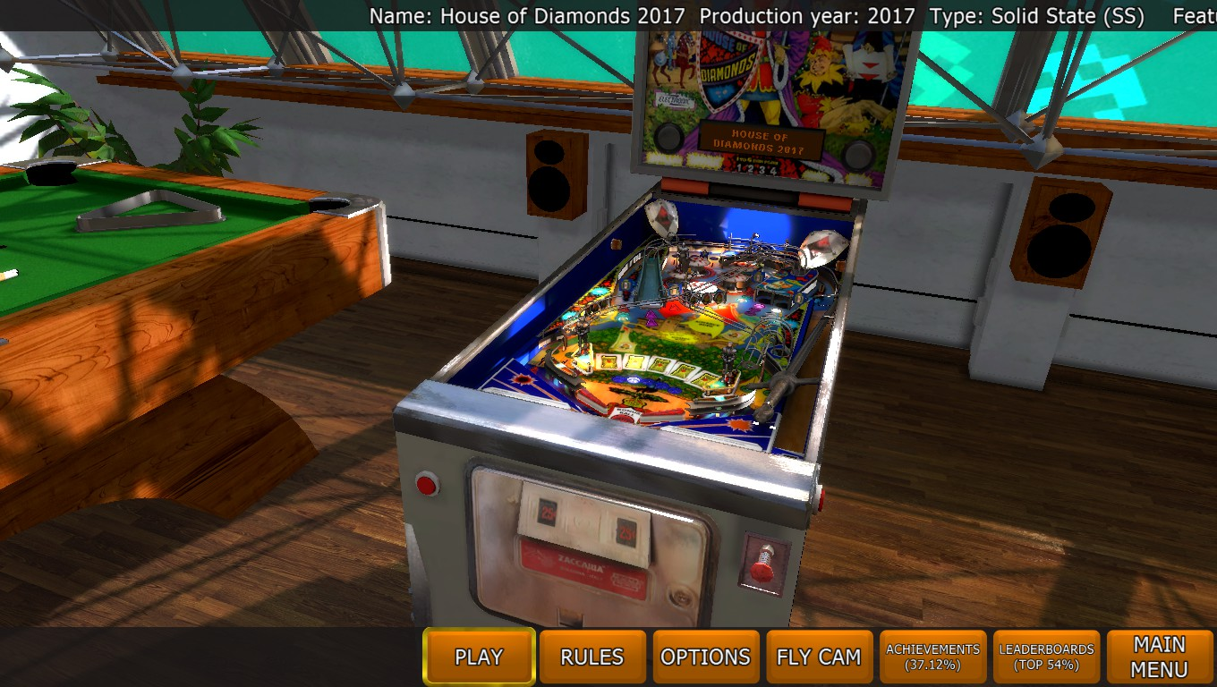 Mark: Zaccaria Pinball: House of Diamonds 2017 Table [3 balls] (PC) 75,842,360 points on 2018-05-04 00:45:23