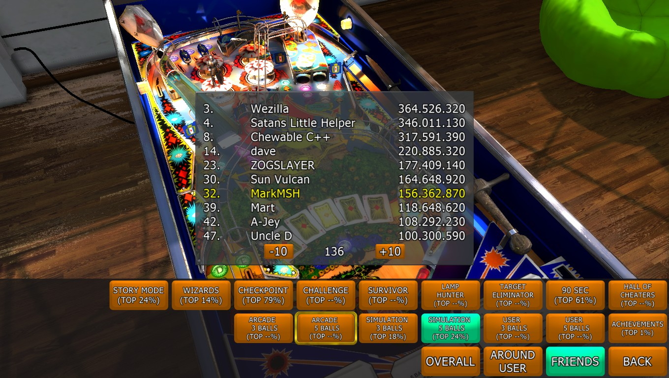 Mark: Zaccaria Pinball: House of Diamonds 2017 Table [5 balls] (PC) 156,362,870 points on 2018-05-04 00:49:42