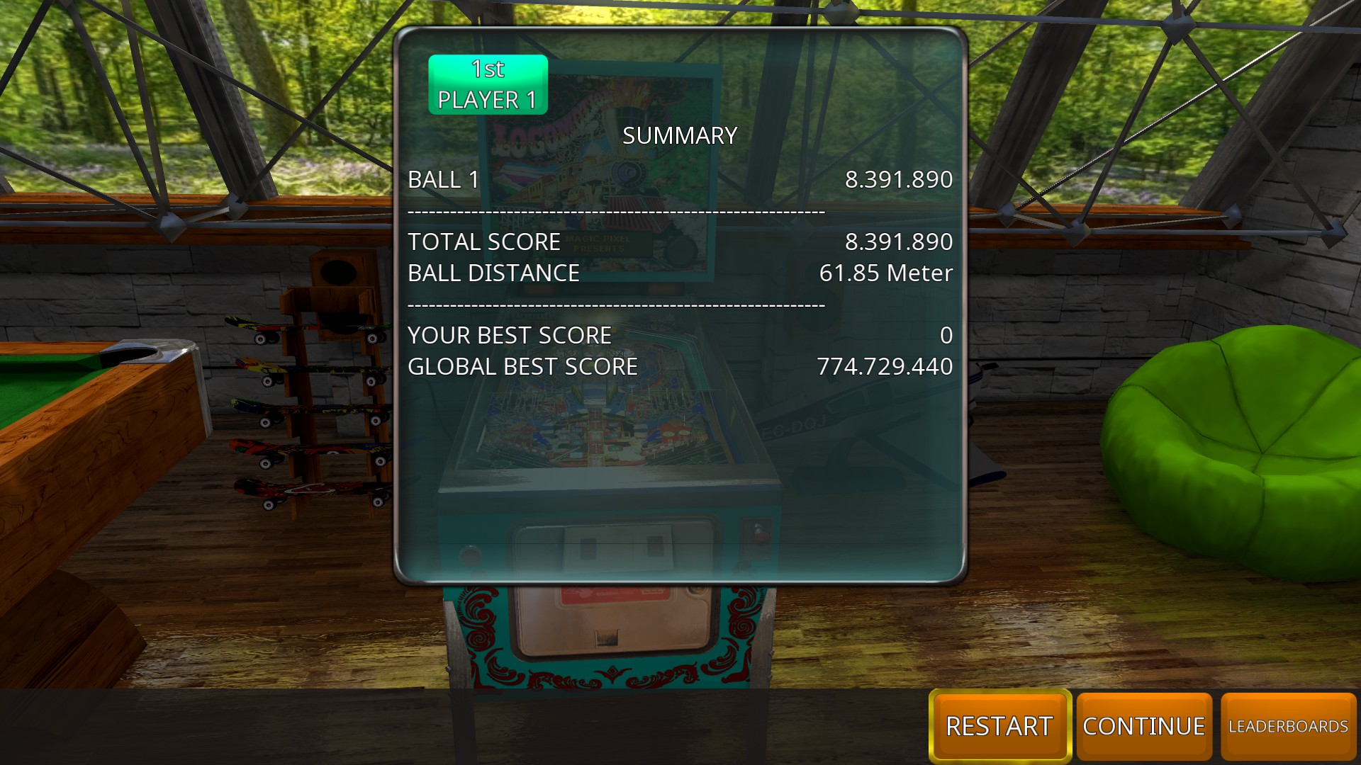 Zaccaria Pinball: Locomotion 2018 [3 balls] 8,391,890 points