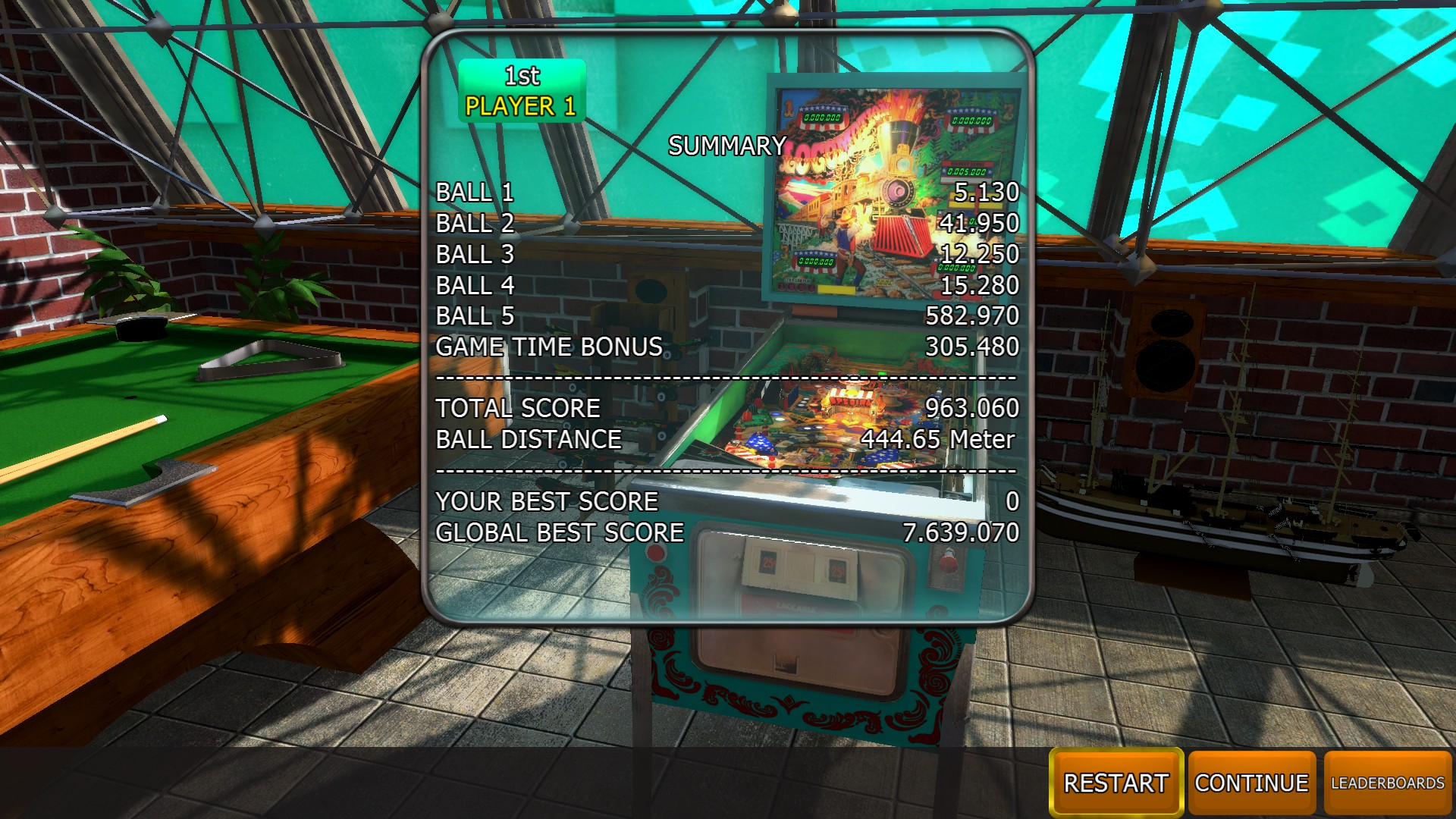 Mantalow: Zaccaria Pinball: Locomotion [5 balls] (PC) 963,060 points on 2018-04-10 06:00:55