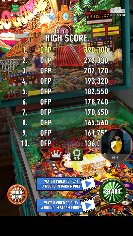 omargeddon: Zaccaria Pinball: Locomotion (Android) 390,100 points on 2018-04-04 01:16:54